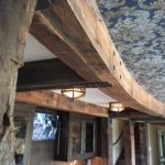 Ceiling with weathered timbers