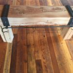 light colored reclaimed wood mantel by Manomin Resawn Timbers