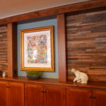 tile reclaimed wood paneling