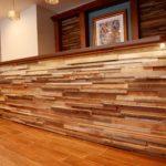 reclaimed wood tile paneling
