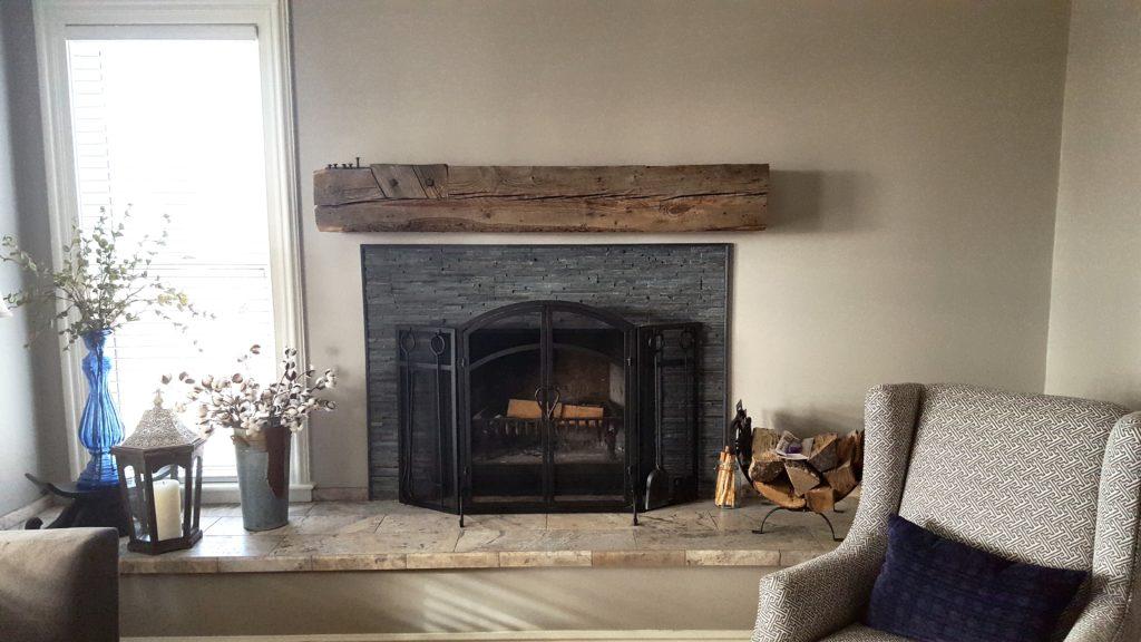 Reclaimed Wood Mantel By Manomin Resawn Timbers Dark