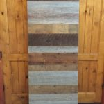 Mixed wood barn doors