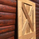 Light wood barn door