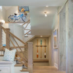 Stairwell with box/faux beams