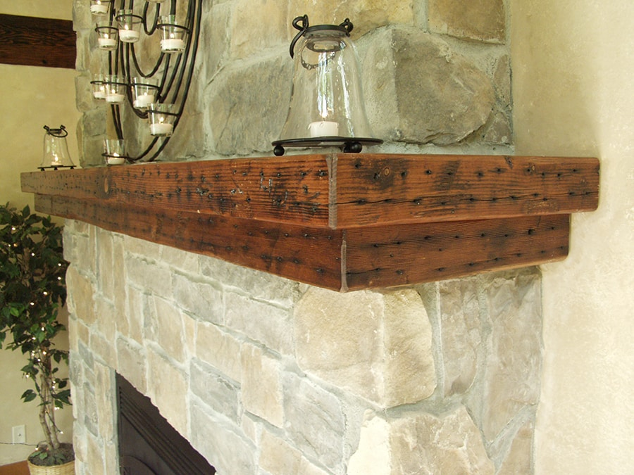 Reclaimed Wood Fireplace Mantels | Manomin Resawn Timbers
