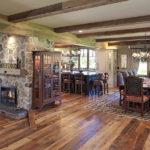 Wood flooring and box/faux beams