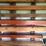 Reclaimed wood mantels on display