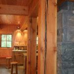 Golden douglas fir timbers