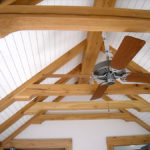 Ceiling with antique elm timbers