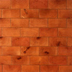 Close up of end-grain reclaimed wood
