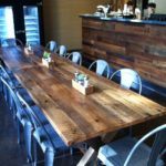 Antique oak reclaimed wood table