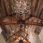 antique wormy chestnut reclaimed wood paneling