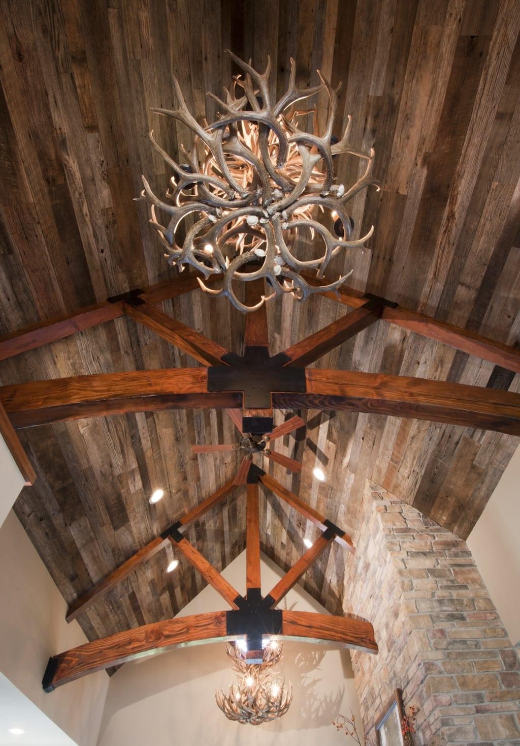 Dark Wood Ceiling
