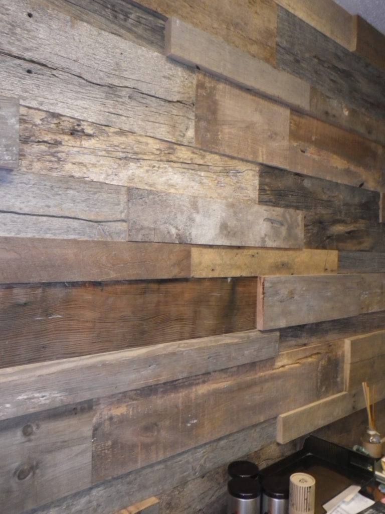 Reclaimed Wood | Manomin\'s Timber Tile Paneling | Mr. Timbers