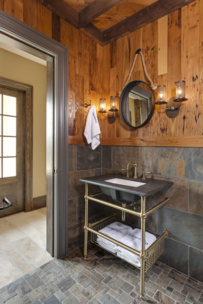 Old Wood Paneled Room: Antique Chestnut Wall Paneling