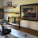 desk with reclaimed wood