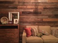 wall with weathered antique wood