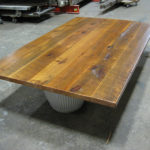 Weathered antique table top