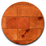 Antique End-Grain Reclaimed Wood Tile Flooring