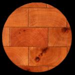 Antique End-Grain Reclaimed Wood Tile Flooring