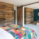 weathered antique wood wall