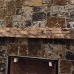 Mantel with iron strap