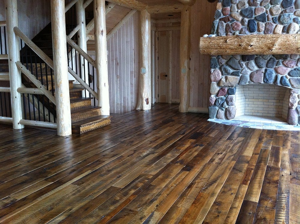 Reclaimed wood antique mixed wood flooring mr timbers for Recycled hardwood