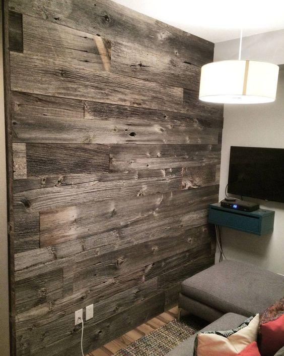 10 Beautiful Barn Wood Accent Walls | Manomin Resawn Timbers