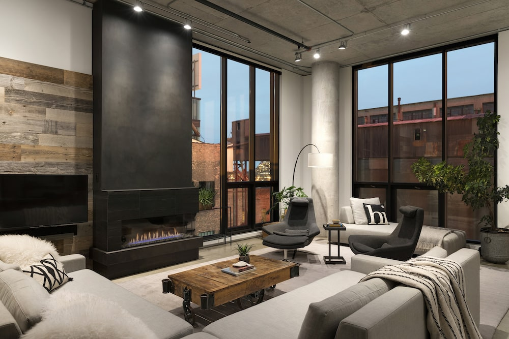 mill district loft with reclaimed wood