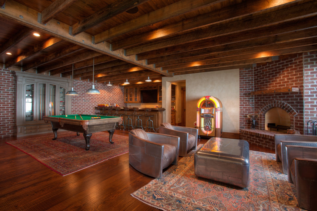 wood-paneling-ceiling-basement
