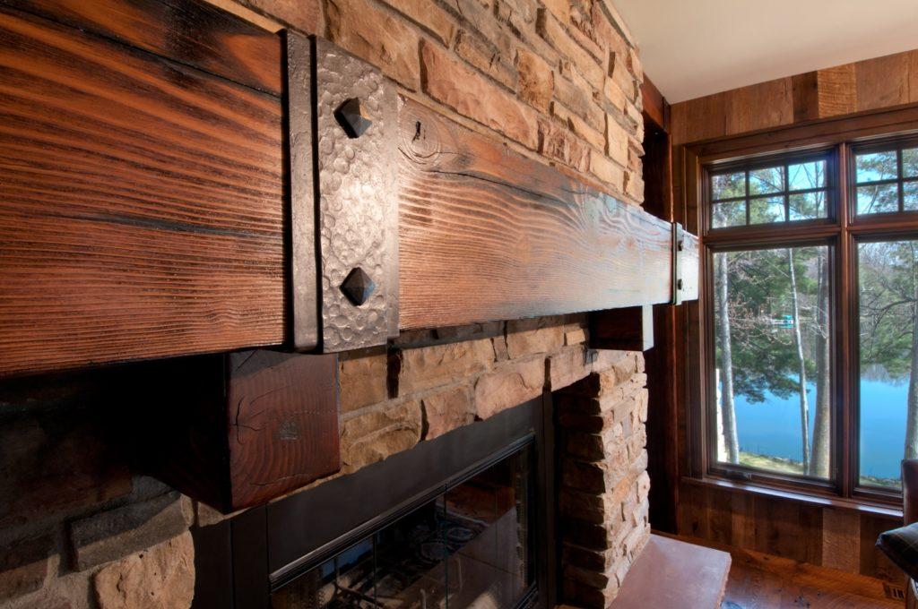 douglas-fir-fireplace-mantel